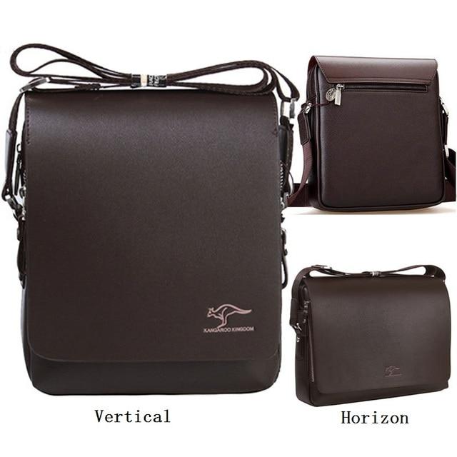 137112658188 HOT SALE! Promotion!!! Famous Brand Kangaroo GENUINE Leather Bag For Men  Business