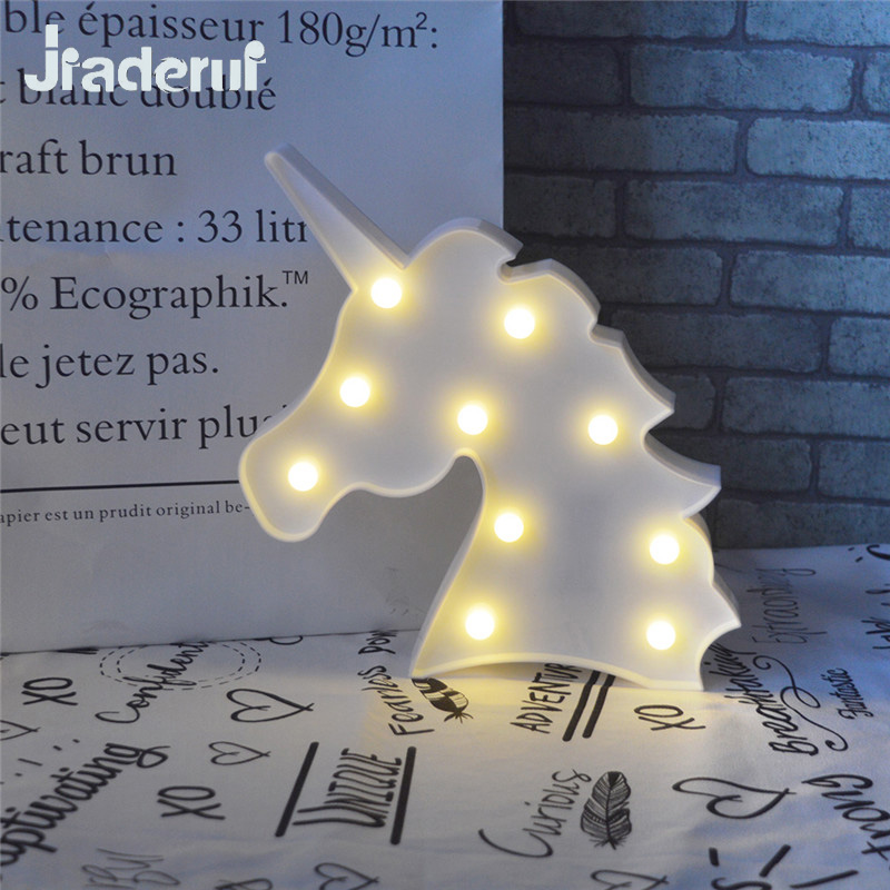 Jiaderui Novelty Led Cute Horse Head Night Light Animal