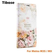 Para o caso meizu m3s m3 mini 3d alívio pintura casos de telefone couro da aleta de luxo tampa do suporte do telefone para meizu m3 estojo de couro Mini