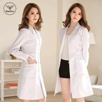 White Coat Long Sleeve Doctor Dress Female Doctor Dress White Coat Short Sleeve Men Slim Nurse Suit Clothes Uniform SPA uniform