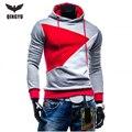 2016 Hoodies Men Sudaderas Hombre Hip Hop Mens Brand Hit Color Stitching Hooded Hoodie Sweatshirt Suit Slim Fit Men Hoody XXL