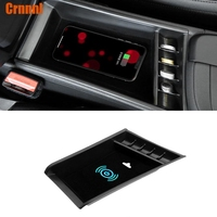 Mobile phone wireless charging in the middle of store content box Car Accessories For BMW X1 F48 20i 25i 25le 2016 2017 2018 LHD