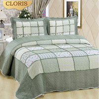 CLORIS High Quality Warm Comfortable Plaid Bedspread 230x250 Size Coverlet Shipping From Moscow Blanket On The Bed Cover Cushion