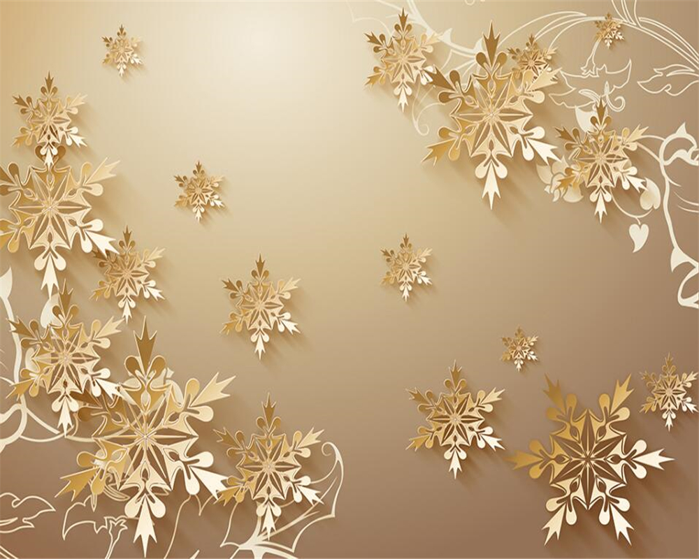 Beibehang Wallpaper For Walls D Cut Paper Gold Snowflakes Wallpaper For Living Room Home Decoration Wallpaper Papel Tapiz In Wallpapers From Home