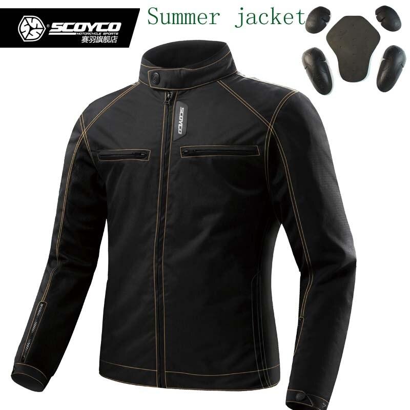 Scoyco JK49 été hommes moto rcycle moto vestes avec protection, vêtements de motard veste de sport masculin