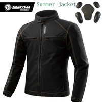 Scoyco JK49 SUMMER Men's motorcycle MOTO jackets with protection, biker clothes masculine sport jacket