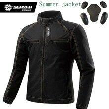 Scoyco JK49 ЛЕТНИЕ мужские мотоцикл MOTO куртки с защитой, байкер одежда мужской спорт куртка