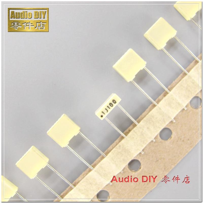 10PCS/50PCS AV R82 0.1uF 100V 100V0.1uF 5% MKT Copper Foot Film Capacitor 100nF 100V100nF 104 100V104