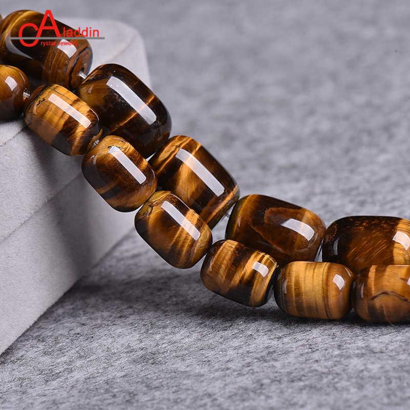 Aladdin Gelb strumpfhosen auge Zylindrischen Barrel perlen Edle stein machen männer & frauen modeschmuck kristall Lose perle zubehör