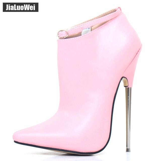 Salto alto extremo, feminino, primavera outono, sapatos de 18cm, salto metálico stiletto, sexy, festa de dança sapatos com calçados