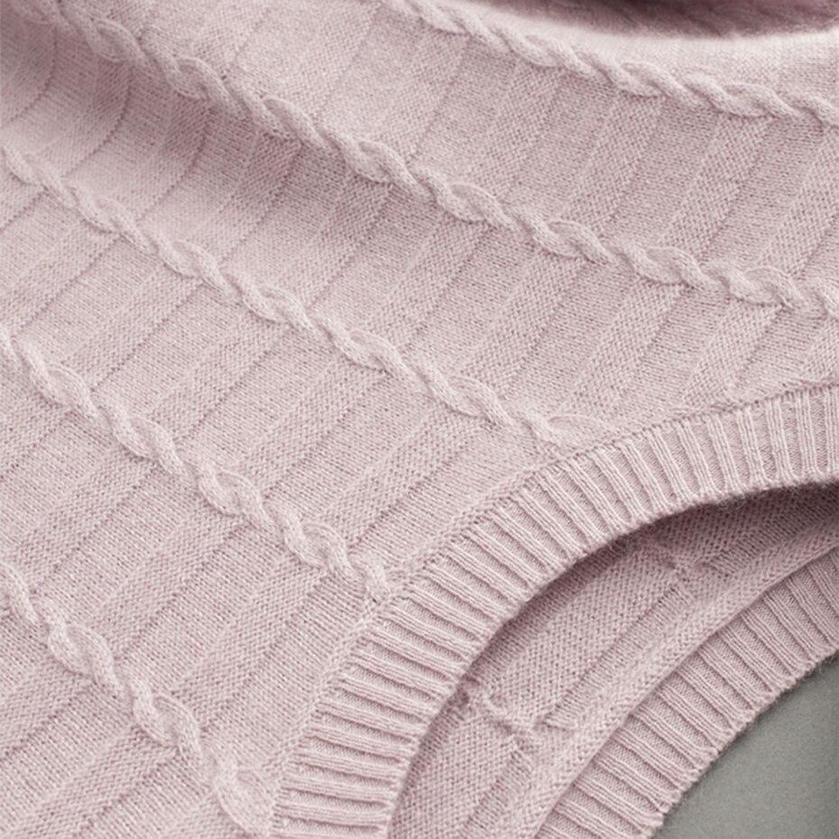 marron noir Solide Ordinateur Chandails Tricoté Mode Pulls Pull Femmes Hiver Longue Polyester Cachemire Manteau rose De Casual 2018 Automne Et Beige Épais En wR7w1F