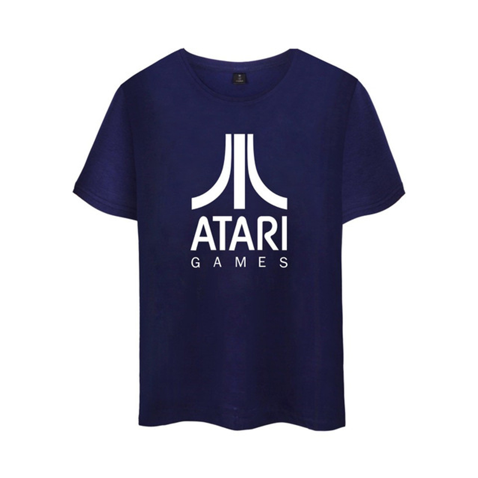 NEW ATARI Logo of Atari Printed T Shirt Summer 100%Cotton Short Sleeve Arcade enthusiast ...