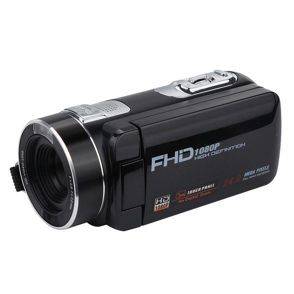 New Digital Camera Full HD 1080P 16x Zoom Recorder Camcorder  Mini 3'' Touch  DV DVR 24MP Video Camera