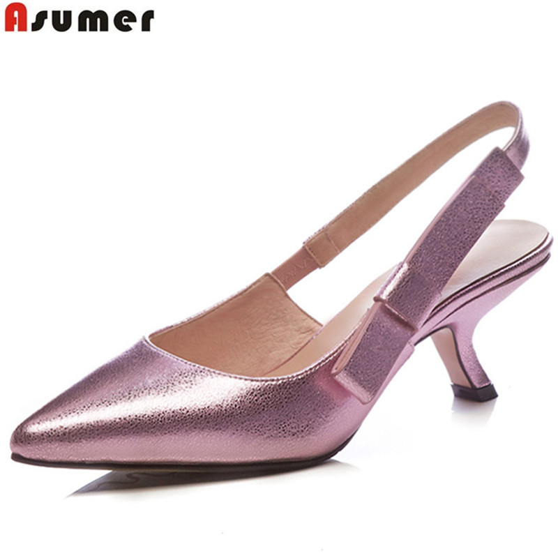 ASUMER silvery rose red pointed toe shallow elegant spring autumn summer shoes woman fashion women high heels shoes 2016 spring and summer free shipping red new fashion design shoes african women print rt 3