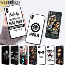 WEBBEDEPP Heda Lexa The 100 TV Show Coque Silicone soft Case for iPhone 5 SE 5S 6 6S Plus 7 8 11 Pro X XS Max XR