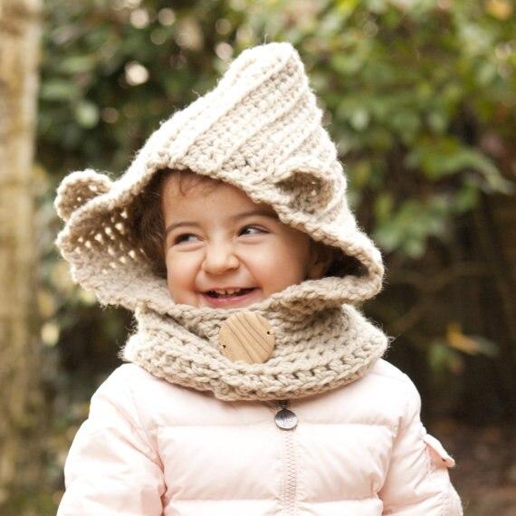 Kinder bär Hut tragen Hoodie bär Gugel Tier Hut mit kapuze Schal ...