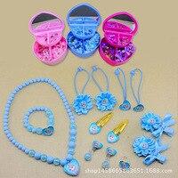 Fashion Children Headwear Bowknot Lovely Hair Clips Gum Elastic Bands Hair Accessories Barrettes Scrunchies Gifts For
