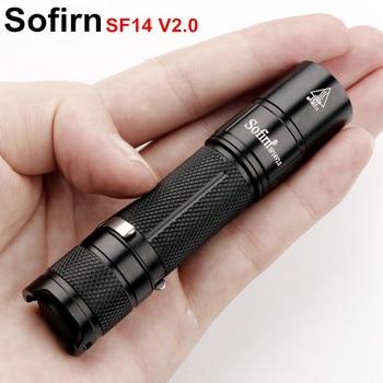 Sofirn Neue SF14 V2.0 Mini LED Taschenlampe AA 14500 Cree XPG2 550lm EDC Tasche Licht Taschenlampe Tragbare Schlüsselbund Licht Penlight 3 modus
