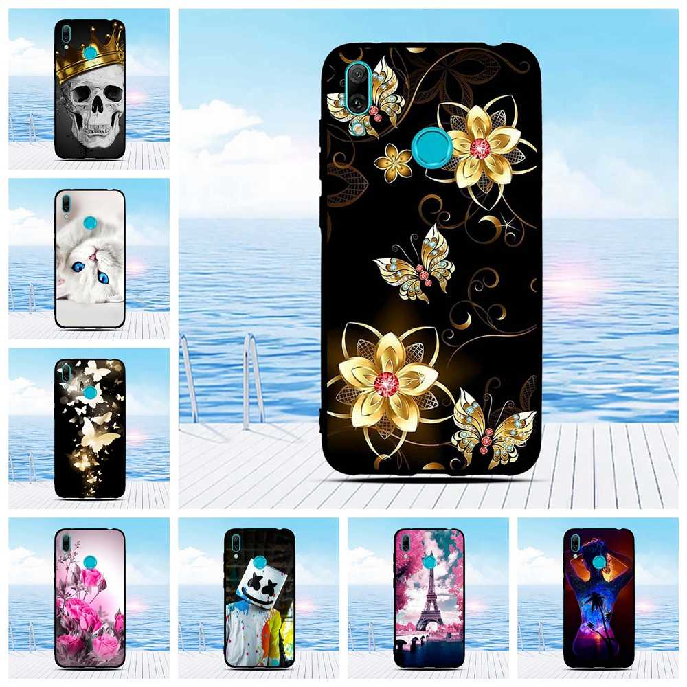Silicone Soft Case For Huawei Y7 2019 TPU Cute Cover Coque For Huawei Y7 Pro Y7 Prime 2019 Phone Case For Huawei Enjoy 9 Coque