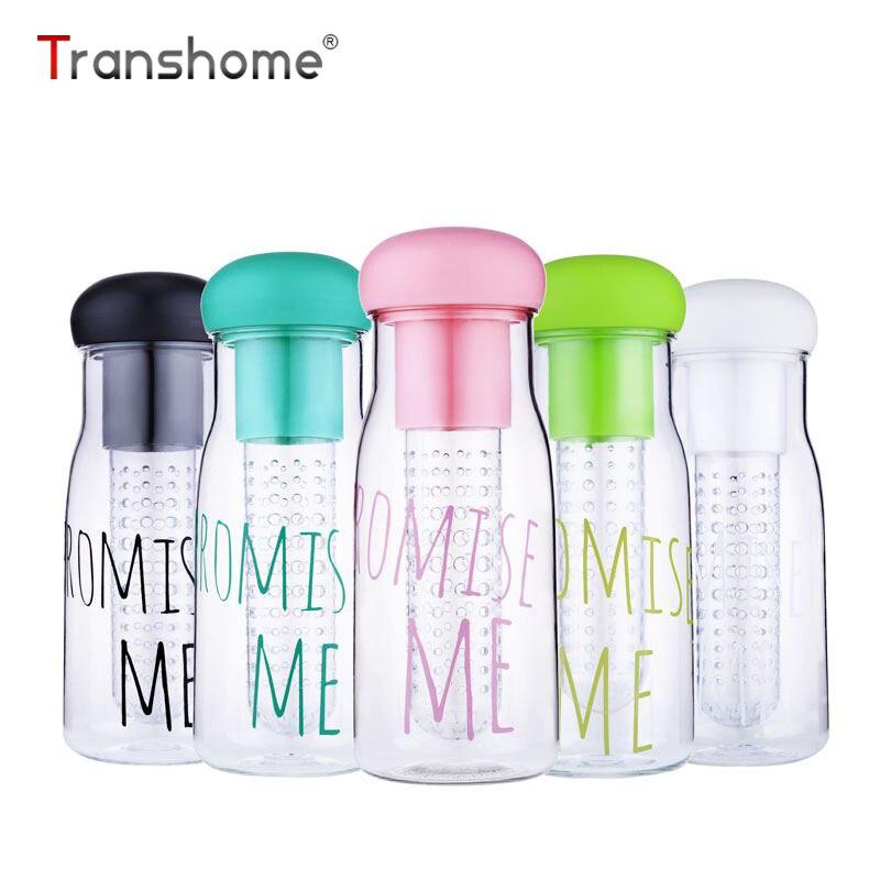 Transhome Korea Style Fruit Infuser Water Bottle 750ml Hot Sale Food Grade PC Tea Lemon Juice Bottle Protein Shaker Drink Bottle