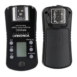 Image 3 - 3 шт. Светодиодная лампа для видеосъемки YONGNUO RF 605C RF605C RF605N RF 605N Беспроводной триггер для вспышки для цифровой зеркальной камеры Canon Nikon Совместимость RF603II YN560IV YN685 YN660 YN560II