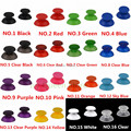 IVYQUEEN 100 PCS 16 colors 3d Analog Joystick Thumbsticks Cap for Sony Playstation 4 PS4 Pro Slim Controller Analogue Stick Grip