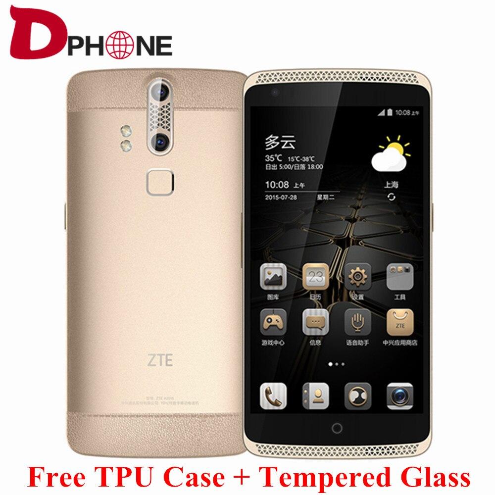 """Цена за Оригинал ZTE Axon A2015 5.5 """"2 К Snapdragon 810 Android 5.0 4 Г TD LTE смартфон 3/4 ГБ RAM 32/128 ГБ ROM 13MP отпечатков пальцев NFC HIFI"""