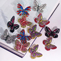 New Christmas Valentines Gifts Enamel Rhinestone Crystal Butterfly Brooch Pins Bridal Wedding Collar Lapel Pin vintage Jewelry