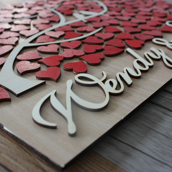 Rustic Wooden Signs | Personalized 3D Wooden Wedding Guest Book Alternatives,Unique Tree Wedding Guestbook,Rustic Custom Sign Book For Wedding Decor