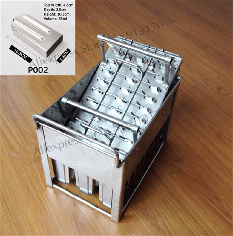 Commercial Freezer Mould <font><b>Ice</b></font> Pop Mold Popsicle <font><b>Ice</b></font>-<font><b>cream</b></font> Mould Lolly Durable Stainless Steel 30pcs/Batch with Stick Holder
