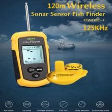 LUCKY FFW1108-1 120 м Беспроводной рыбы прибор для обнаружения эхолокатор преобразователь датчика эхолот сигнализации детектор для рыбалки 125 кГц искатели рыбы