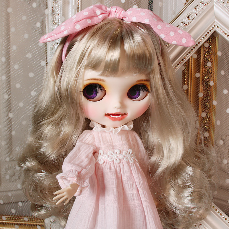 Glacé DBS Blyth poupée 1/6 Joint corps peint à la main mat visage blanc peau douce argent boucles cheveux costume 30cm SD jouets cadeau AB ensemble de main