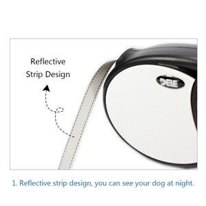 Image 5 - Bluerise cães de alta qualidade trela retrátil automático pet trela para cães grandes controle remoto universal com cinto plana super 5 m