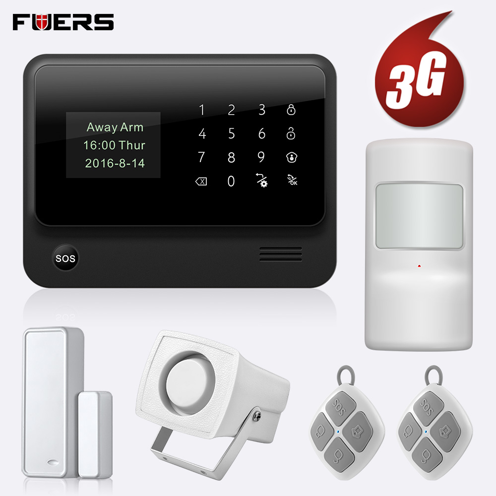 FUERS Wireless 3G G90B GSM WIFI Security Alarm System IOS Android APP Control Home Security Smart House Can Store six Alarm Call