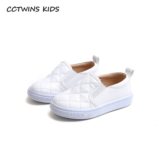CCTWINS KIDS 2018 Autumn Baby Girl Fashion Slip On Sneaker Children Pu  Leather Trainer Boy Casual Sport Shoe Black FSO2289 fd2883567e47
