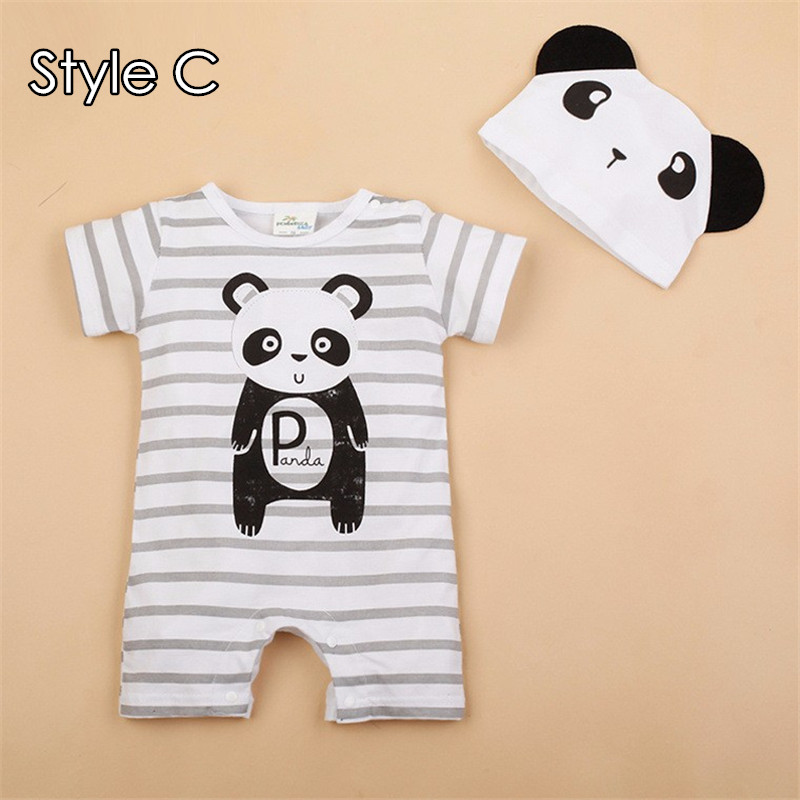 Aliexpress.com : Buy New Cute Baby Girl Clothes Infant Toddler 2017 Summer  Cartoon Bear Cow Printed Short Sleeve Romper And Cap Set Baby Boy Clothing  From ...