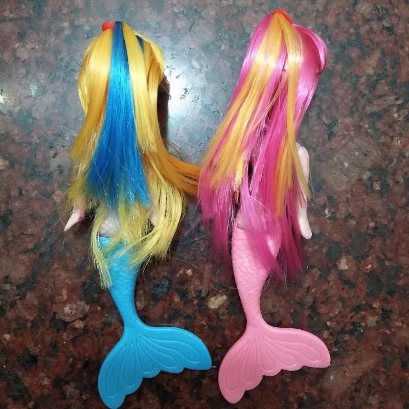 4 pcs/lot Mainan Bayi Mode Anak Mermaid Putri Boneka Lucu Sea pembantu Indah Gadis Mainan Hadiah Ulang Tahun Mainan Klasik