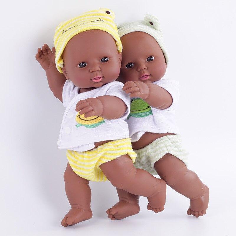 12303030cm recém nascido renascer boneca africana simulação do bebê macio vinil crianças barato brinquedos presentes de aniversário natal