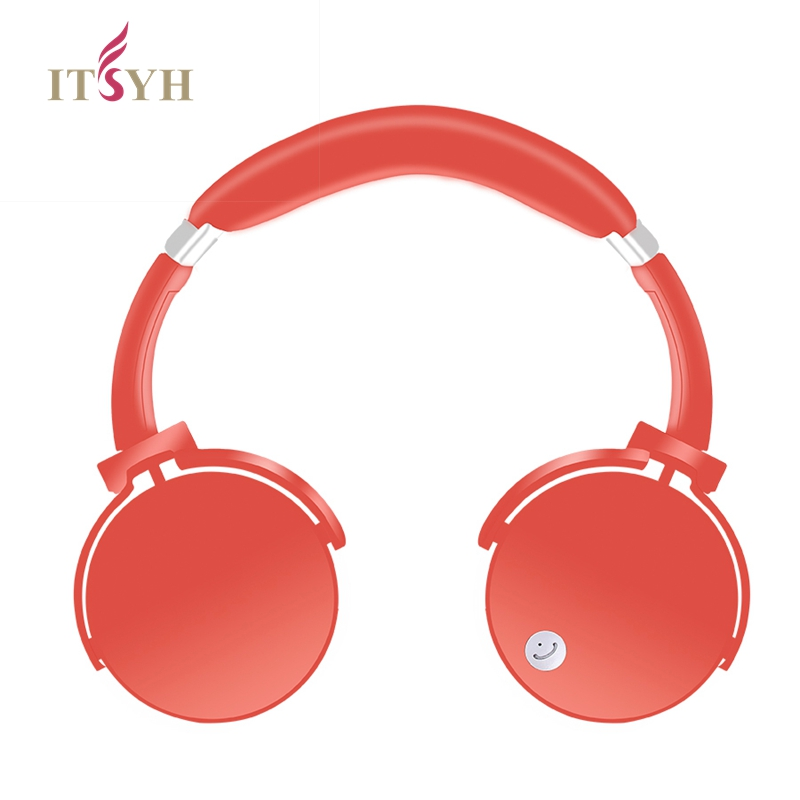 ITSYH Wireless headphones Bluetooth Headphones girls Headset for iphone X/8/7plus Support of TF Card+3.5mm Audio Line with mic