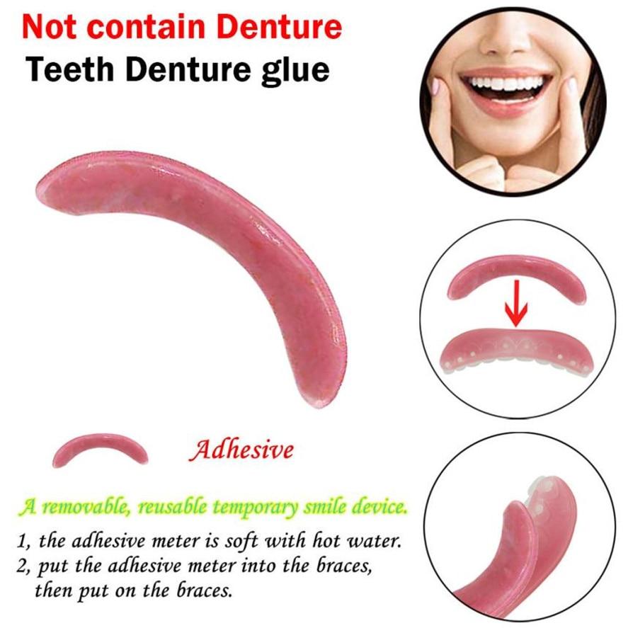 New Denture Adhesives Glue 1pc Temporary Smile Comfort Fit Cosmetic Teeth Denture Glue For Top Denture Teeth 25