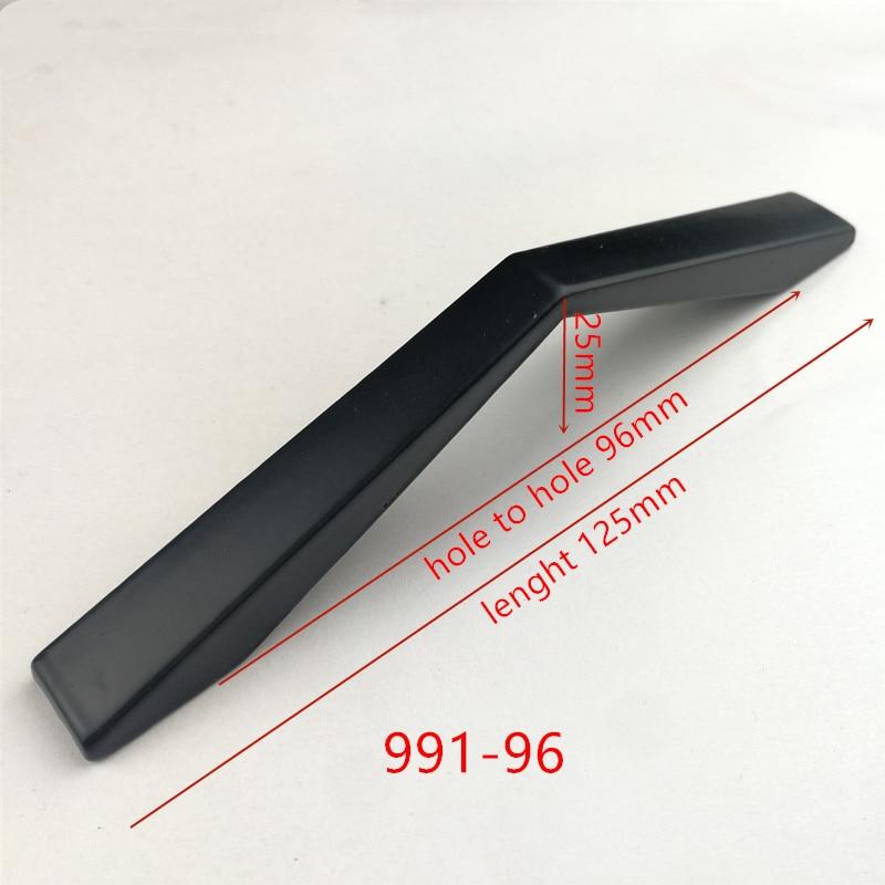 Ручки для шкафа из цинкового сплава черного цвета в американском стиле, дверные ручки для кухонного шкафа, ручки для выдвижных ящиков, модные мебельные ручки, фурнитура - Цвет: 991-96