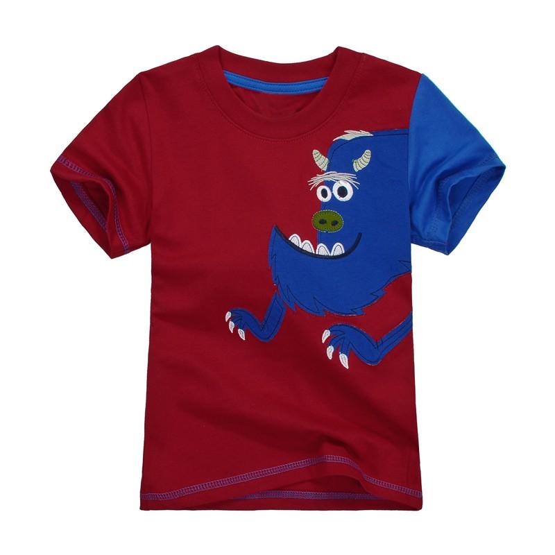 HTB114SeMpXXXXaDXXXXq6xXFXXXd - 2016 New Kids T-Shirt Baby Clothes Boys Summer O-Neck T-shirts Cartoon Monkey Girls Short Sleeve Tops Children Cotton Clothing