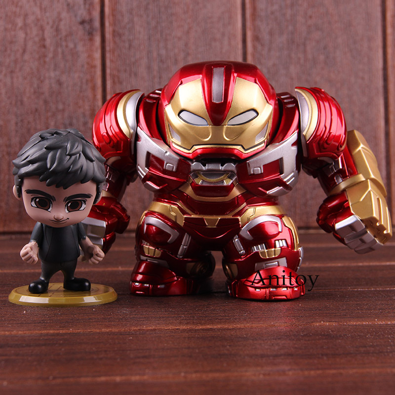 Hot Toys Cosbaby Avengers Infinity War Hulkbuster & Bruce Banner Action Figure Marvel PVC Collectible Model Toy 2pcs/set 1