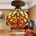 Стильные маленькие потолочные светильники в старинном средиземноморском стиле  Светильники для прохода  лампа Tiffany внутри американской де...