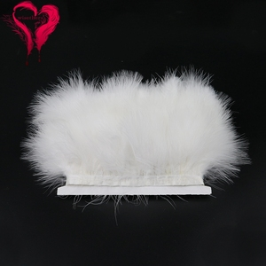 12 Colors 1 Meter Width 6-8 CM Fancy Soft Fluffy Dyed Colorful Turkey Marabou Feather Ribbon Lace Trim Party Garment Decoration(China)