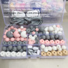 2017 Hot Silicone Beads Pacifier Clip Eco Baby Teething Beads Set Nursing DIY Chew Jewelry Silicone