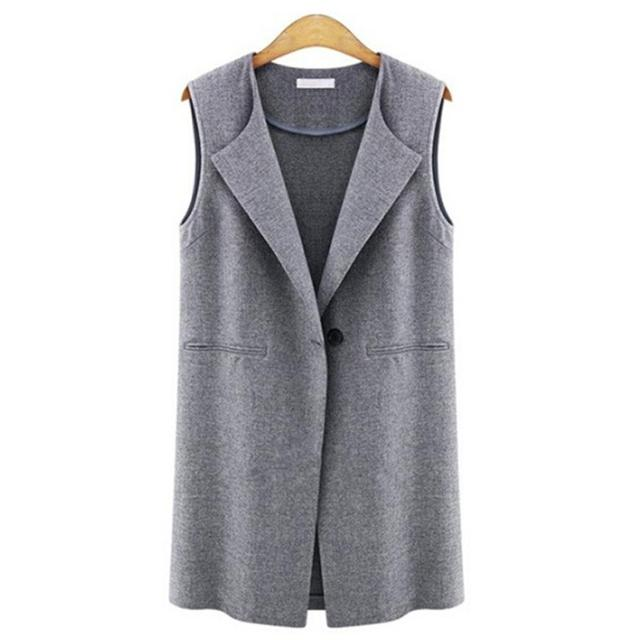 feitong women's casaco feminino Casual Sleeveless Jacket Long Gilets Vests Outwear