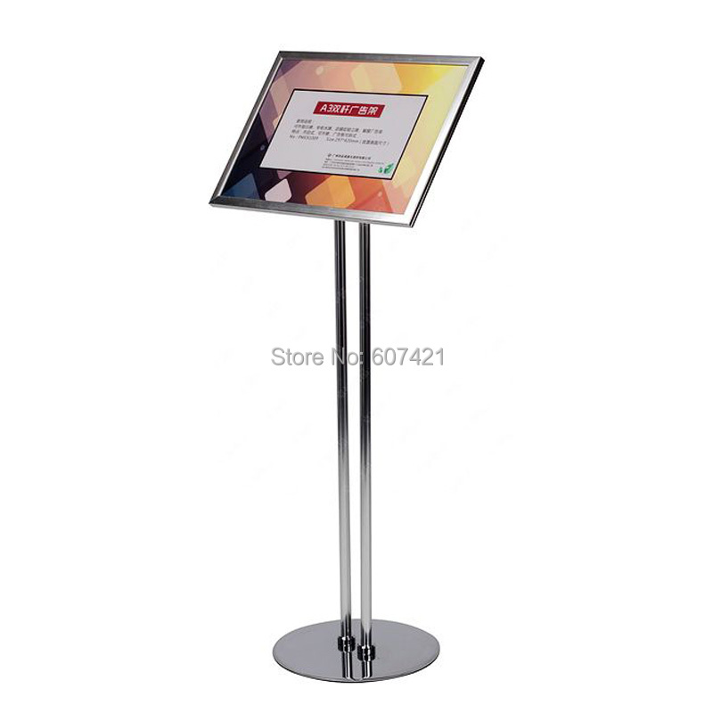 a4 adjustable pedestal sign holder floor stand with aluminium snap poster frameschina mainland