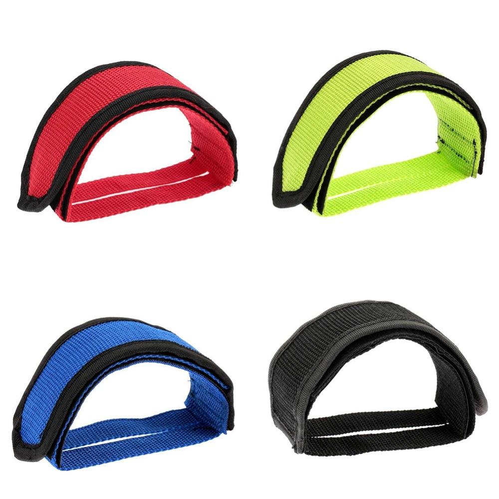 TXIN 1 Pair Bike Straps Pedal Fixed Gear Bike Bicycle Anti-Slip Double Adhesive Pedal Toe Clip Strap Belt