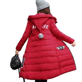 ef68487125d 2019 зимняя куртка пальто женская одежда толстовка утолщение теплый средняя  длинная верхняя одежда тонкий плюс размеры